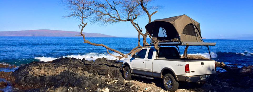 camping at the beach on maui