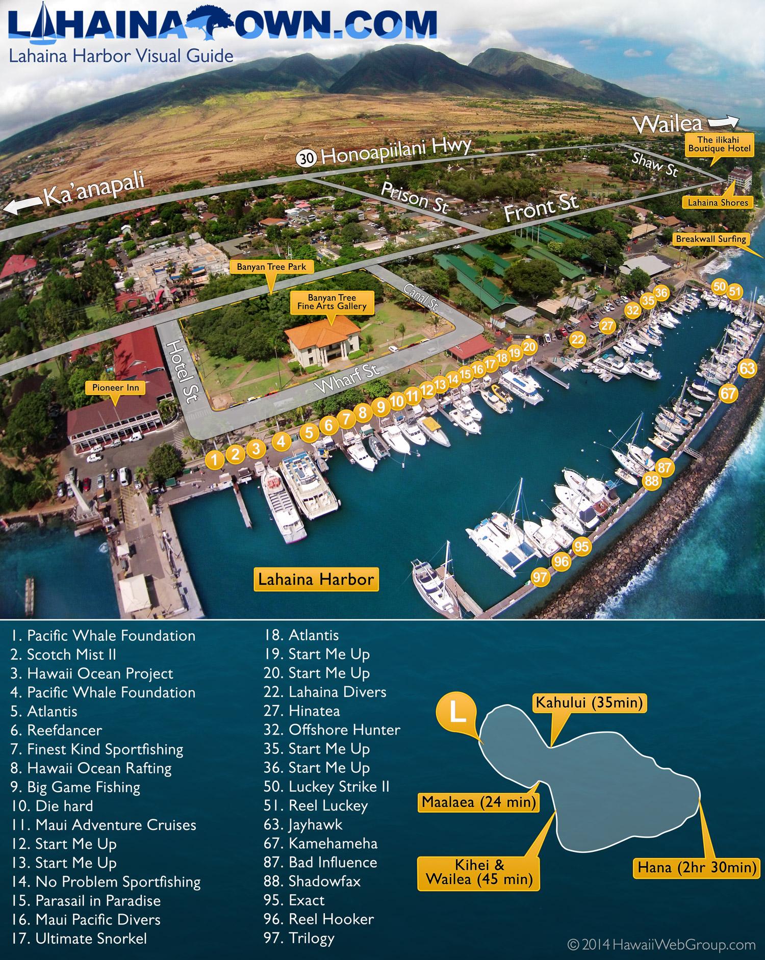 Lahaina Harbor Map